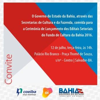 CONVITE EDITAIS SETORIAIS -CULTURA-2016